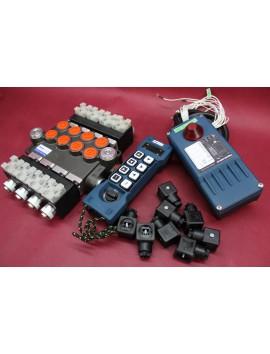 Remote radio control HM-line 800  hydraulic valve 4 spool 80 l/min 12VDC