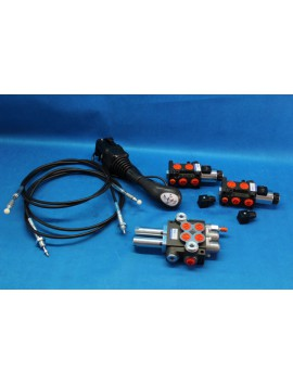 Hydraulic Kit VALVE 4 sections + JOYSTICK + SOLENOID x 2 +   JOHN DEERE