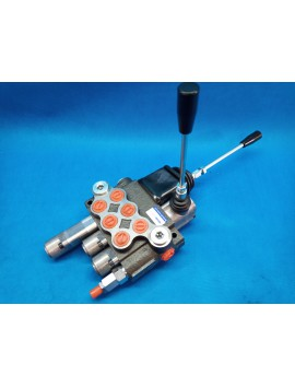 Hydraulic valve for levers 3 section 40l/min 11GPM double acting with 1 swiming section