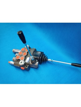 Hydraulic valve for levers 3 section 80l/min (21GPM) double acting with 1 swimming section and joystick