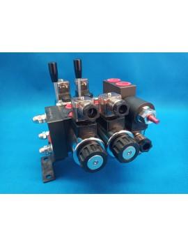 Directional control valve 2-spool hydraulic solenoid 40 l/min (11GPM) 24 V