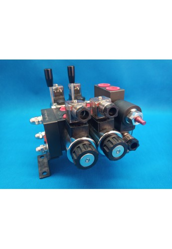 Directional control valve 2-spool hydraulic solenoid 40 l/min 11GPM 24 V