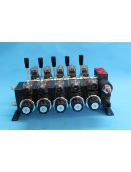 Directional control valve 5-spool hydraulic solenoid 40 l/min (11GPM) 12 V