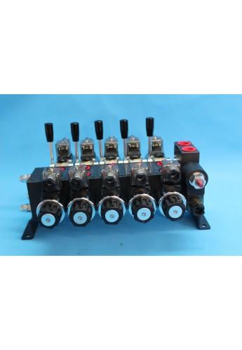 Directional control valve 5-spool hydraulic solenoid 40 l/min 11GPM 12 V