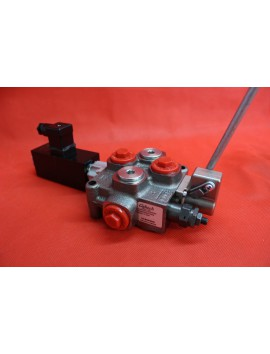 1 SECTIONAL DIRECTIONAL CONTROL VALVE GALTECH Q45 60 l/min 16 GPM Electric solenoid 12C + levers
