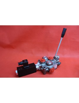 1 SECTIONAL DIRECTIONAL CONTROL VALVE GALTECH Q45 60 l/min 16 GPM Electric solenoid 24V + levers
