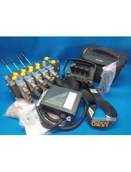 juuko remote radio 4 handle manipulators + Hydraulic valve HM Line 4 functions 120l/min 33 GPM Full proportional 12 V