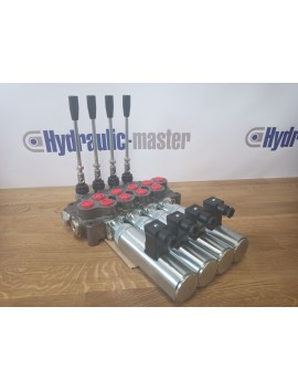 Hydraulic valve 4 sections HM line 90 l/min  24 gpm 12V double acting for cylinder spool