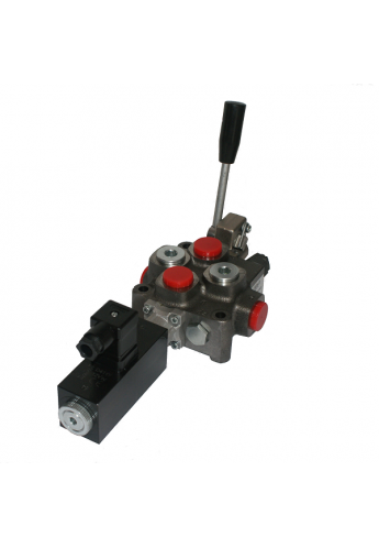 Hydraulic valve 1 sections HM line 90 l/min  24 gpm 24V double acting for cylinder spool