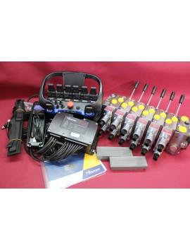 HM Line Full Proportional 6 Function Hydraulic Valve + Scanreco Radio Remote Control