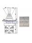 Joystick for valve 4 position for 12 or 24 V VALVES