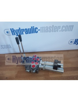 Hydraulic valve 2 sections HM line 90 l/min  24 gpm 12V double acting for cylinder spool