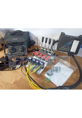 Radio remote JUUKO 12 V HS-20004PE 2 joysticks with valve HM Line 60 l/min +  valve HM Line  60l/min 16 gpm