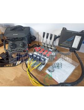 Radio remote JUUKO 24 V HS-20004PE 2 joysticks with valve HM Line 60 l/min +  valve HM Line  60l/min 16 gpm