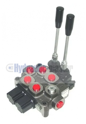 Galtech Q75 2 Sections Directional Control Valve 90 l/min 24 GPM with levers