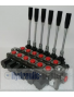 Galtech Q75 6 Sections Directional Control Valve 90 l/min 24 GPM with levers