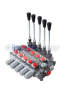 Galtech Q75 5 Sections Directional Control Valve 90 l/min 24 GPM with levers