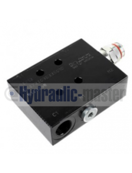 Joystick with 7 buttons + Monoblock Vave 5-spool hydraulic solenoid 50 l/min 13GPM 12VDC