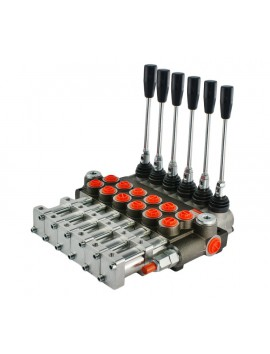Hydraulic valve 4 spool 40 l/min 11 GPM controlled pneumatically