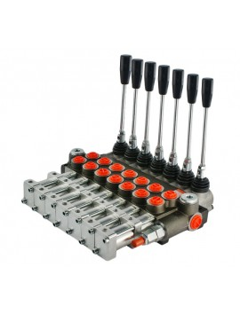 Hydraulic valve 5 spool 40 l/min 11 GPM controlled pneumatically